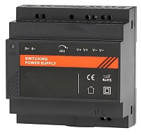 Компактный блок питания на DIN-рейку с работой от 220 В и внешней батареи